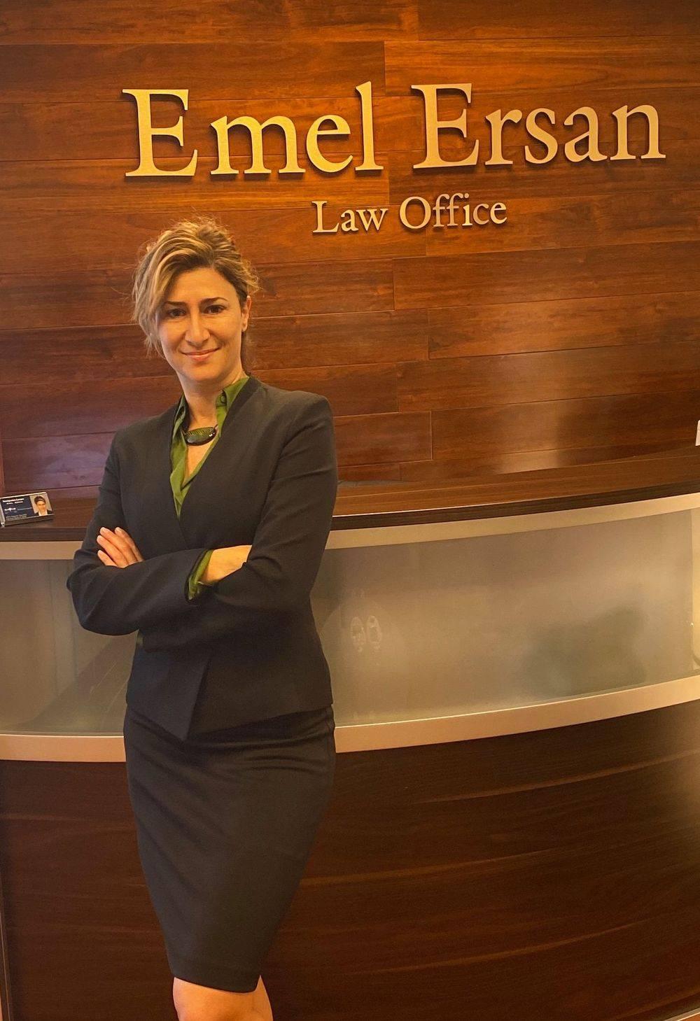 Emel Ersan in her office's lobby