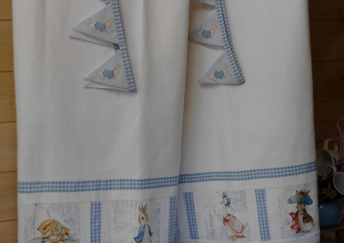 Beatrix Potter Curtains  & Tie Backs