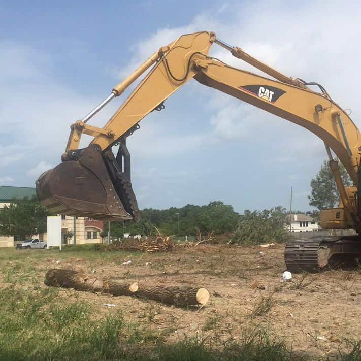 Land clearing project, tree removal; in Houston, TX