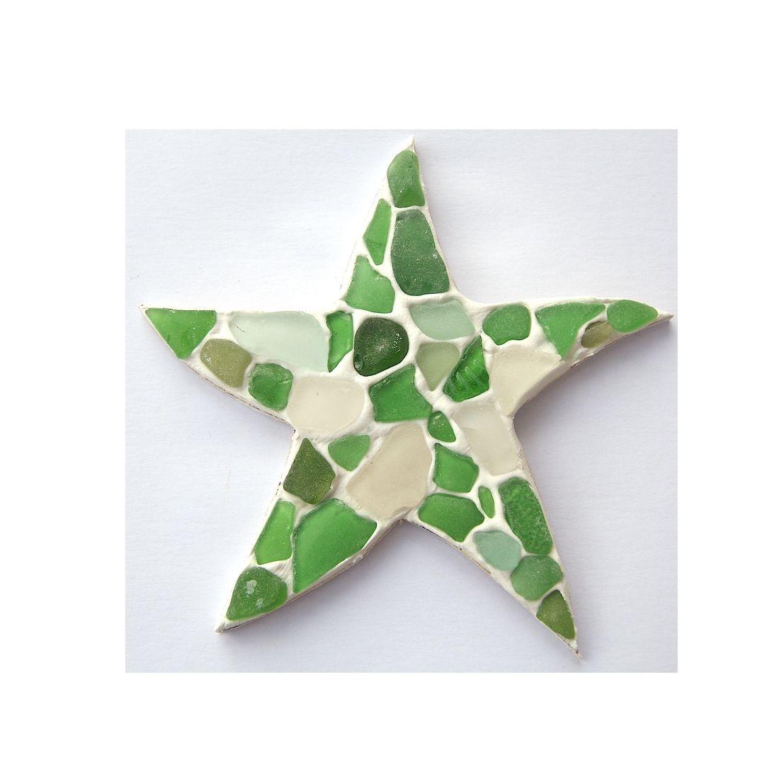 Fridge magnet seaglass starfish