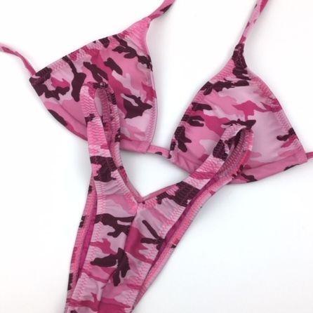 pink camo  figure suit