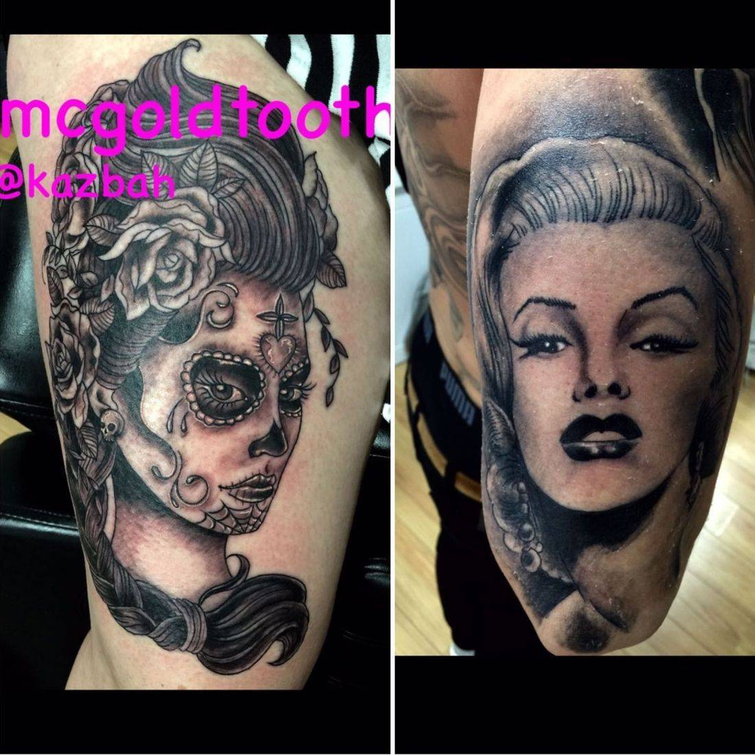 Tattoos by mcgoldtooth at kazbah Leicester City Centre