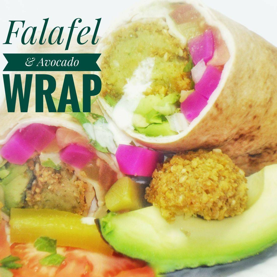 Falafel & Avocado Wrap