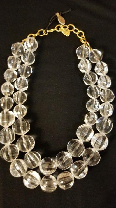 Multi-strand Lucite Necklace