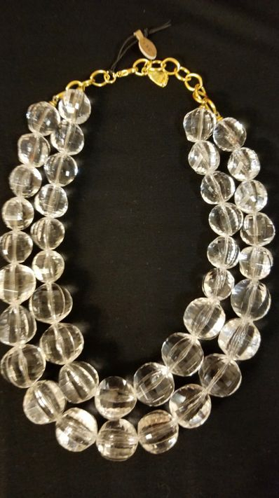 Multi-strand Lucite Necklace