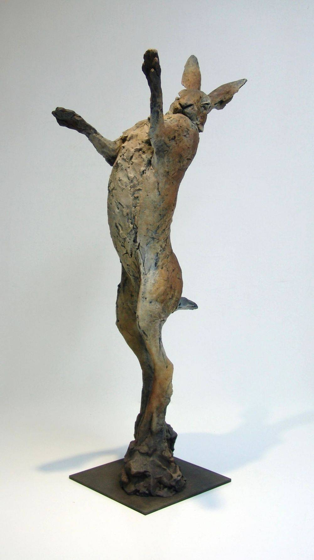 Bronze Boxing Hare sculpture