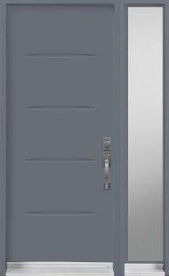 Door Sidelite Urban Contemporary blue paint