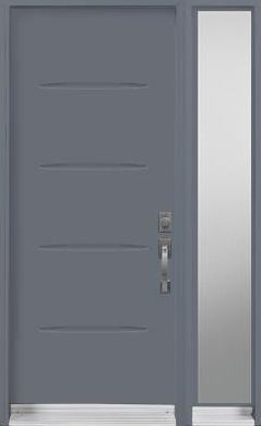 Door Sidelite Urban Contemporary blue paint