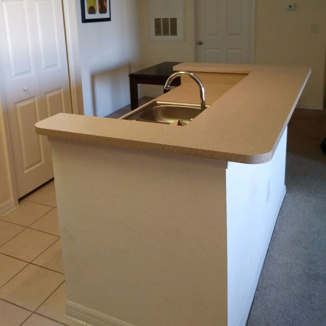 Kitchen Island After Refinished Countertop