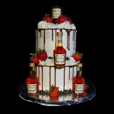 Drip cake Hennessy cake