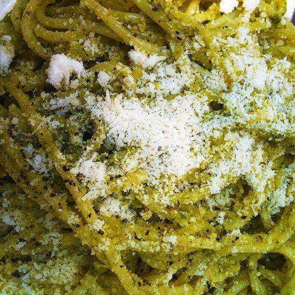 pasta with home made pesto