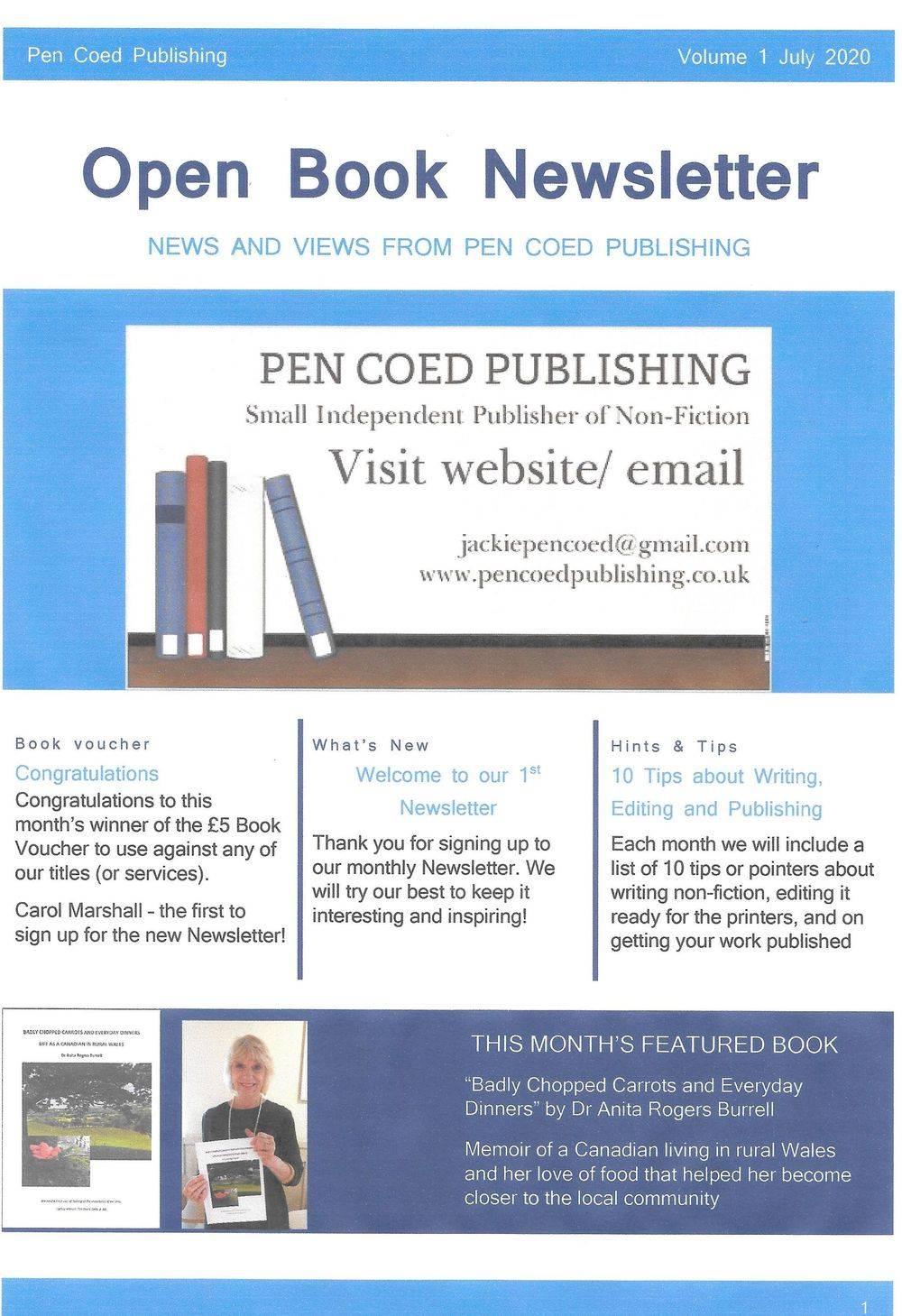 Pen Coed Publishing, Newsletter