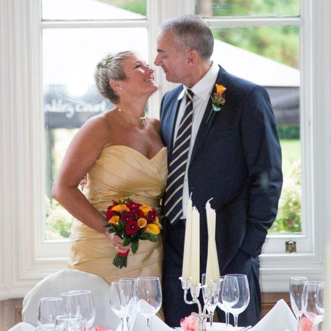 Mature bride,simple wedding dress