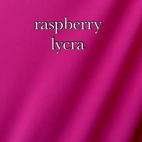 raspberry  lycra