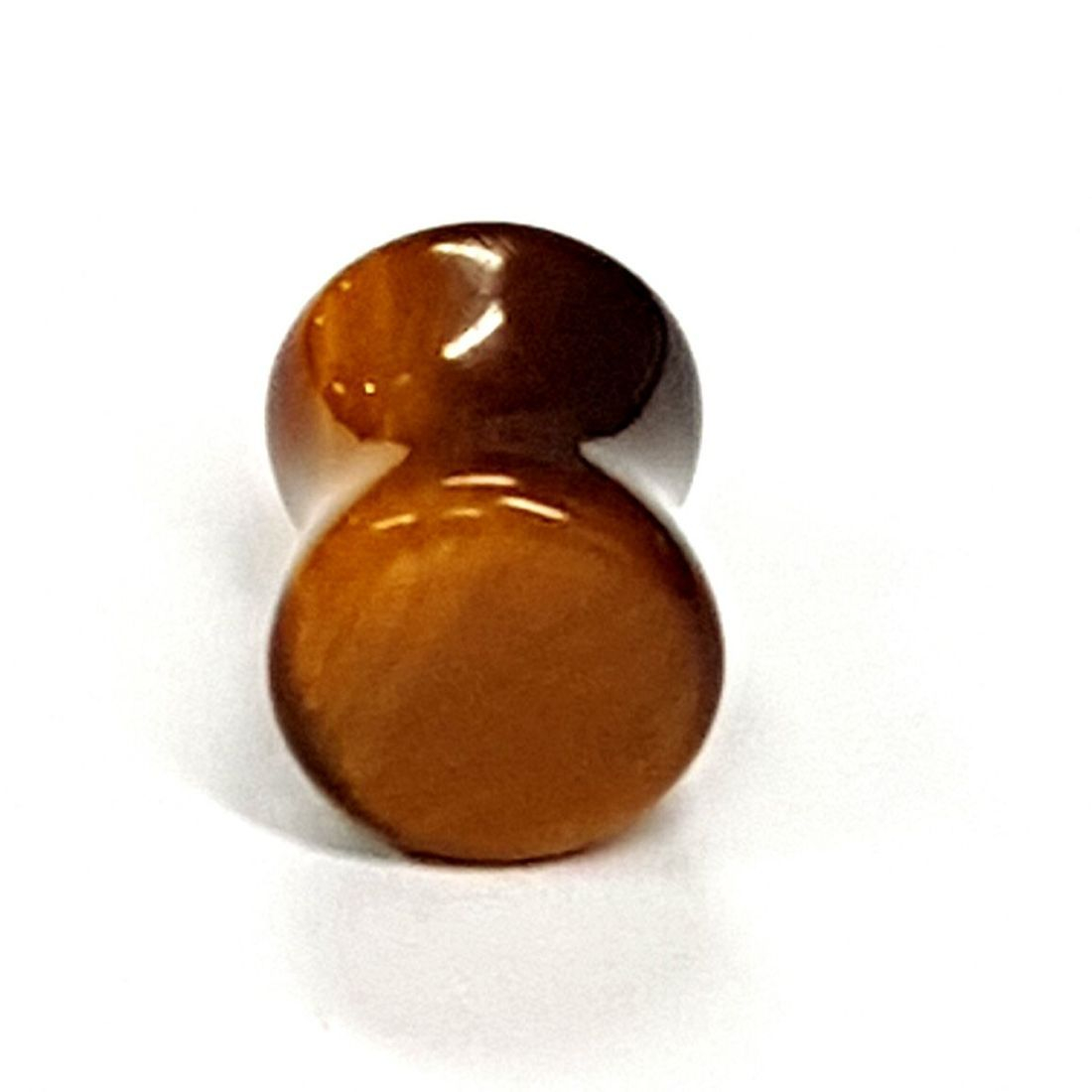 Tigers eye ear plug  available at Kazbah online or our Leicester City Centre store