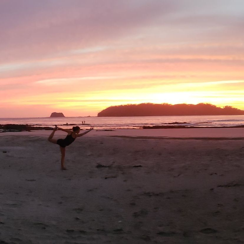 A gorgeous sunset at Playa Carrillo after a Sunset Yoga Practice with our private yoga retreat guests.  Costa Rica, Pura Vida!!!!