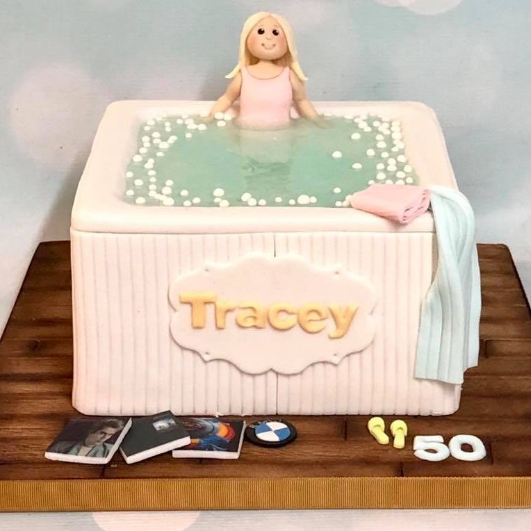 Birthday Cake Novelty Hot Tub Jacuzzi