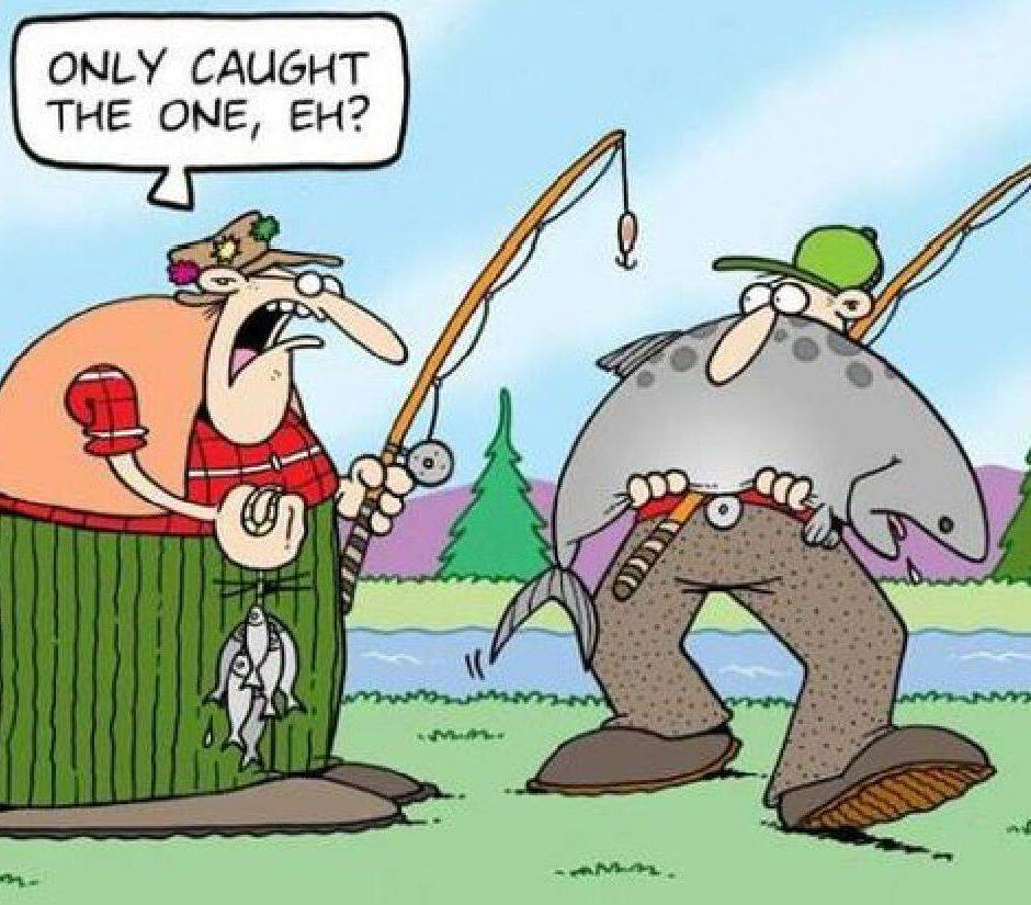 fish, fishermen, humor, tackle, funny, cartoon