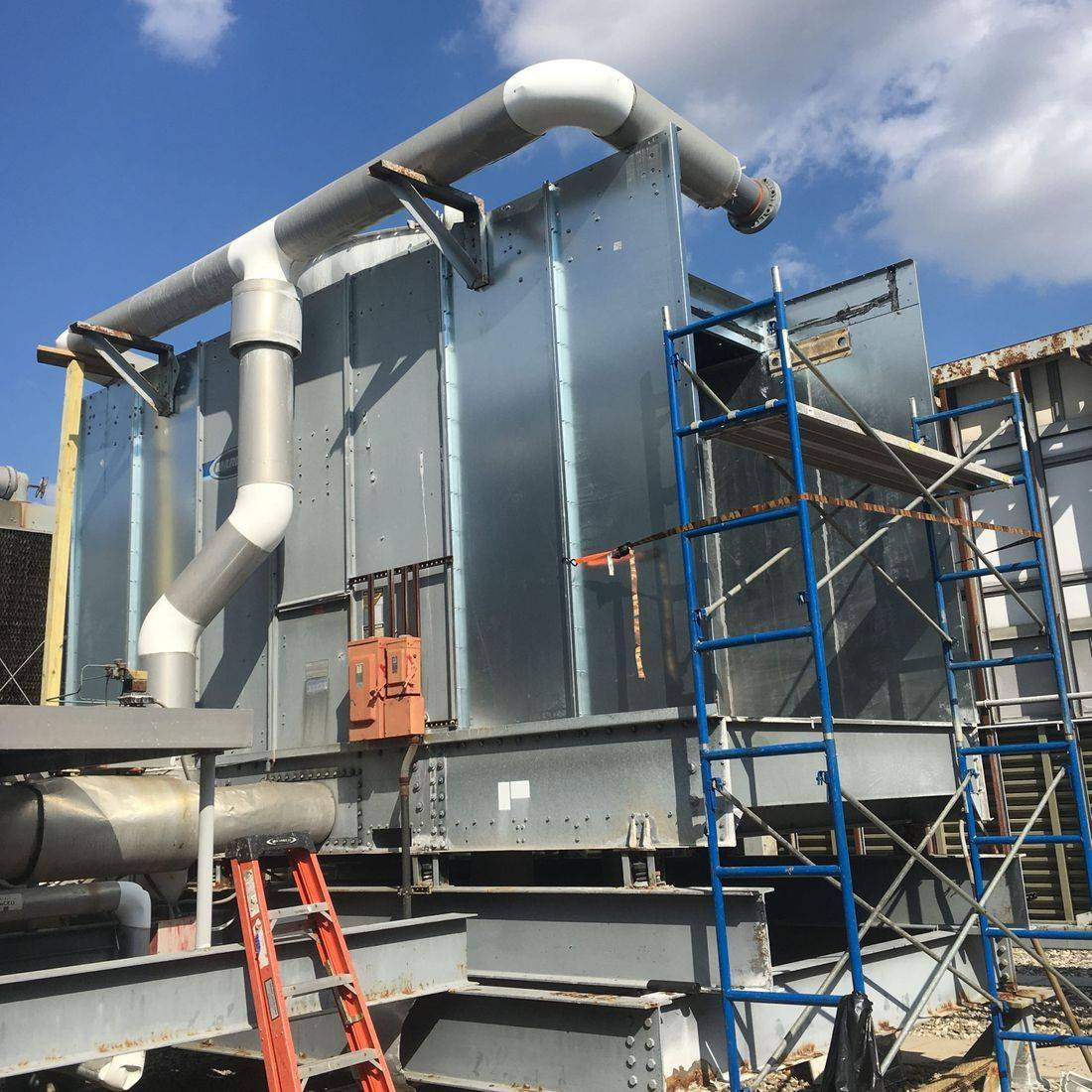 Cooling tower cleaning and maintenance