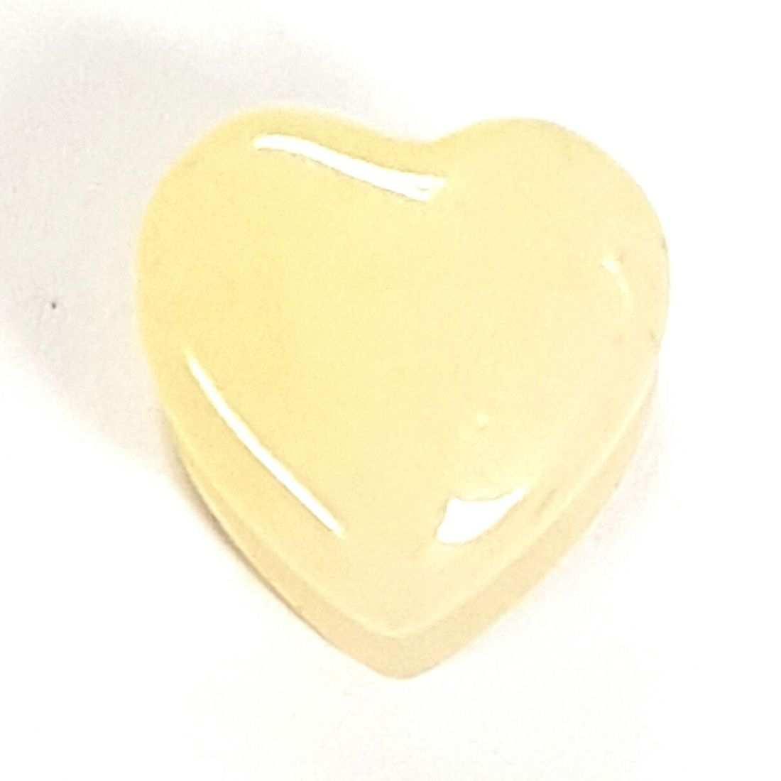 Cream quartz heart plug  available at Kazbah online or our Leicester City Centre store