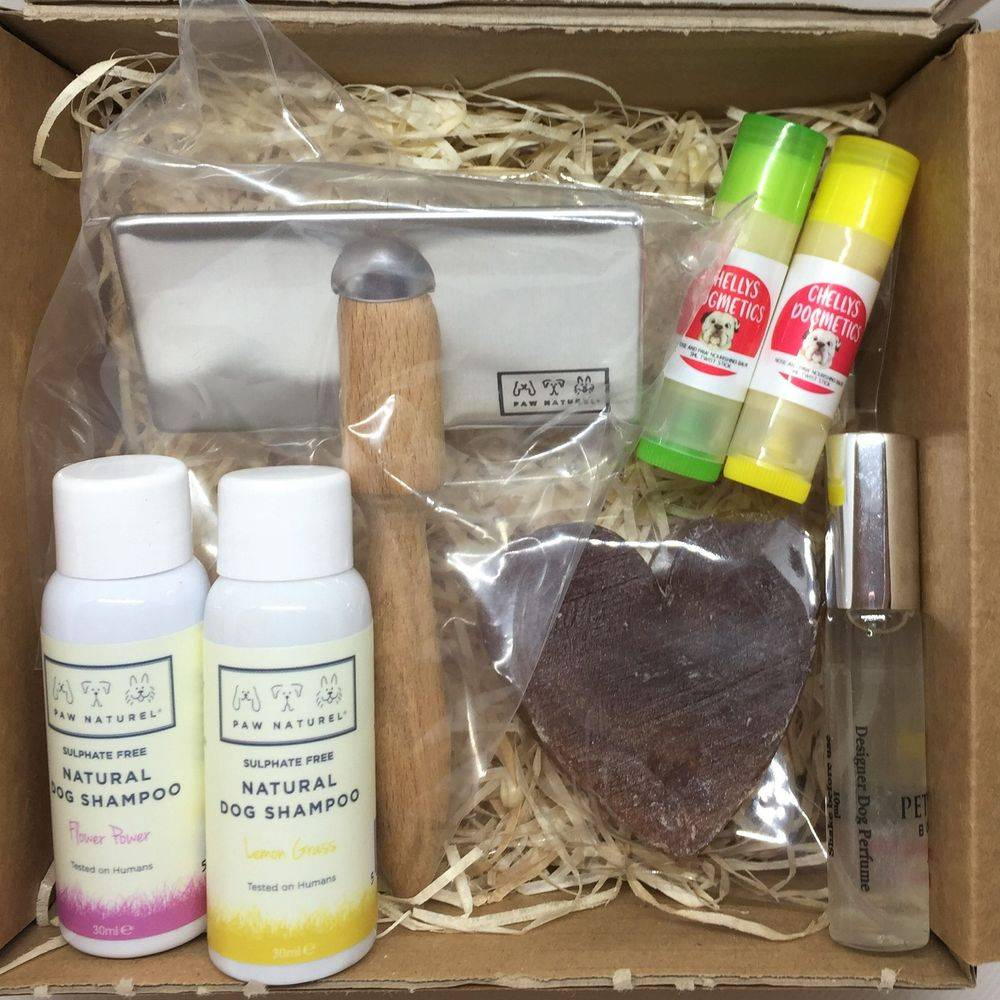 Natural dog products hamper gift