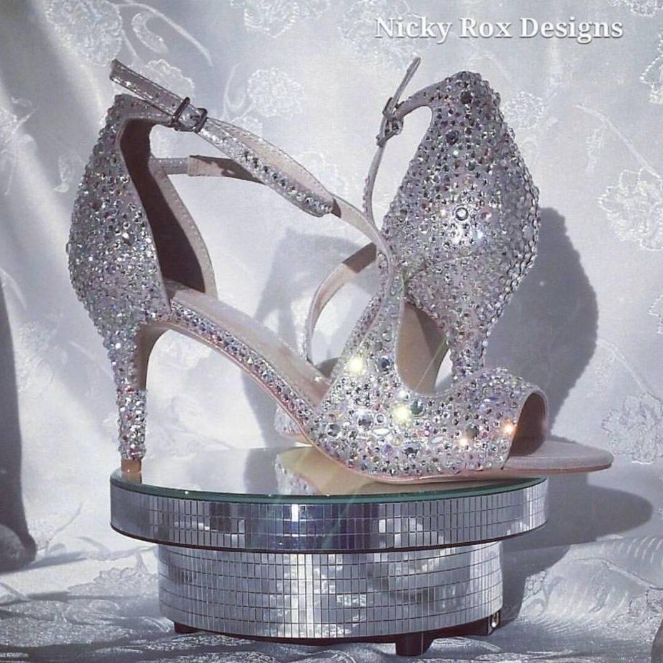 personalised embellished custom bespoke order crystal shoes Swarovski Preciosa nicky rox