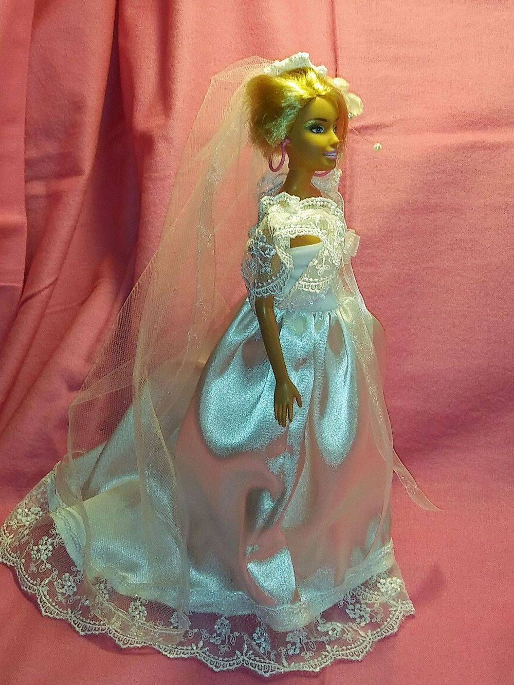 Barbie Wedding, Barbie Gown, Barbie clothes, Doll clothes, Fashion Doll Dresses