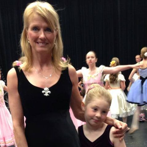 Miss Janine and dancer at our Spokane ballet and contemporary performance  a couple of years ago