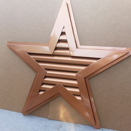 Copper penny aluminum star gable vent