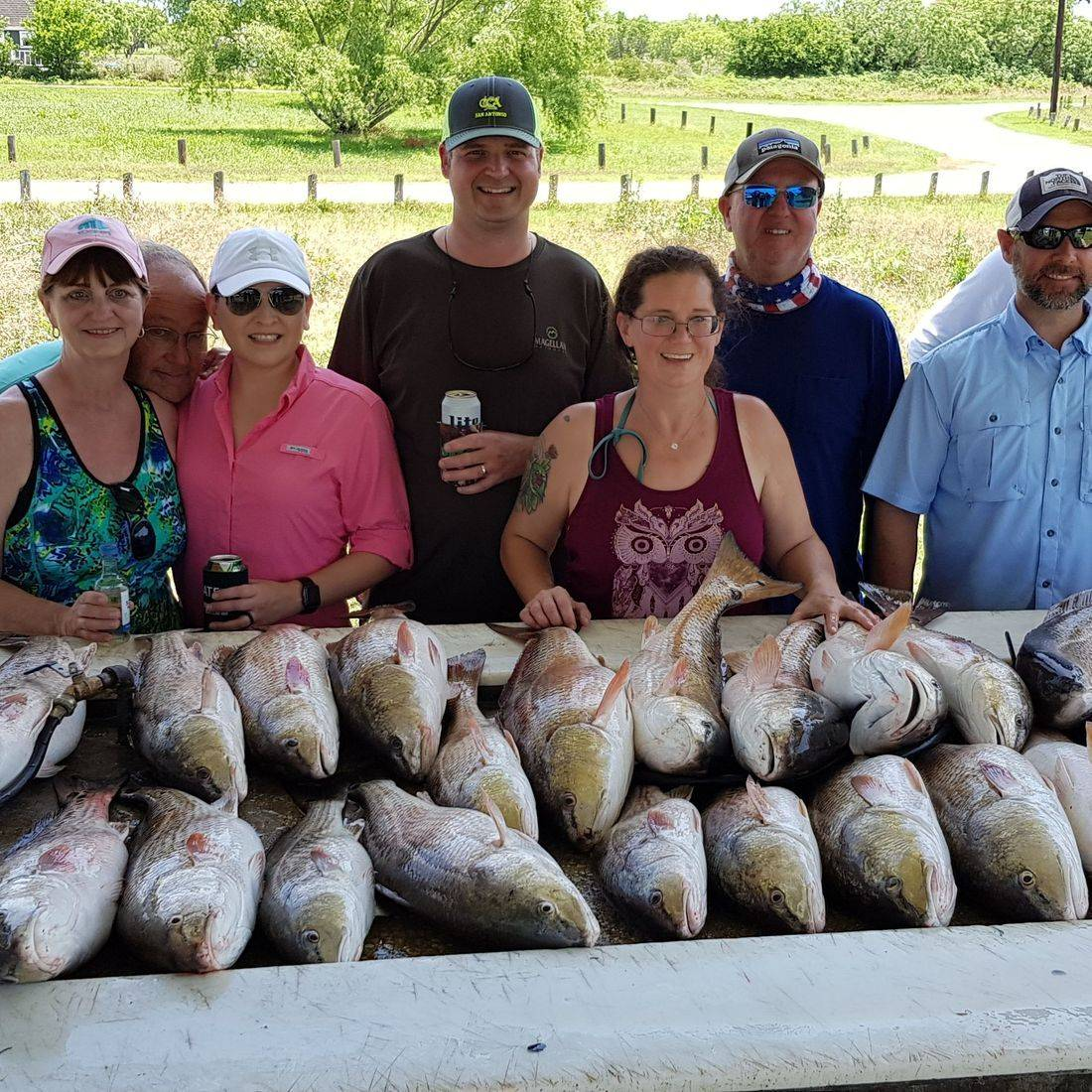 San Antonio Fishing, Group fishing Charter for redfish