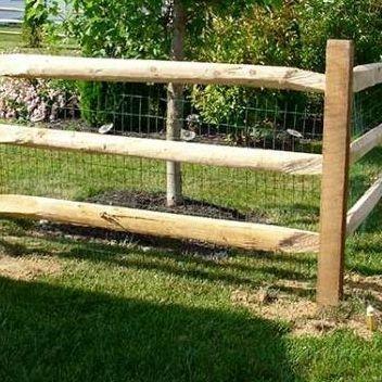 Three Rail Horse Farm Fence