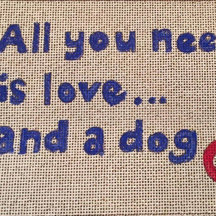 love, dog, paw, sampler