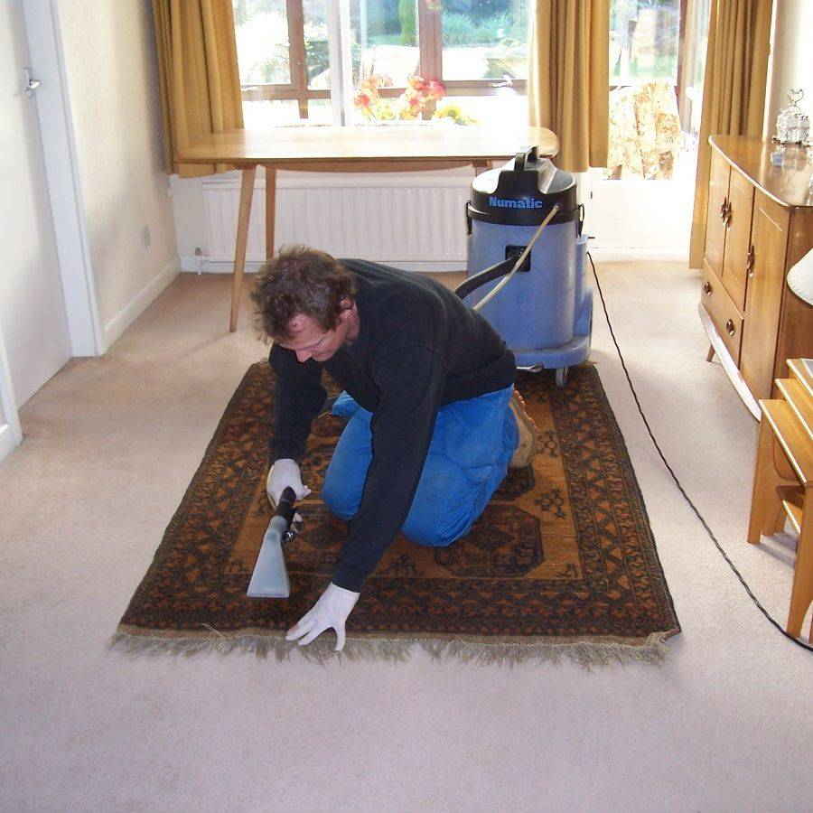 Cleaning a rug in Leicester