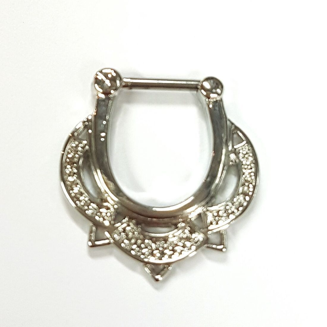 1.2 Elegant titanium septum clicker  available at Kazbah online and our Leicester City Centre Shop