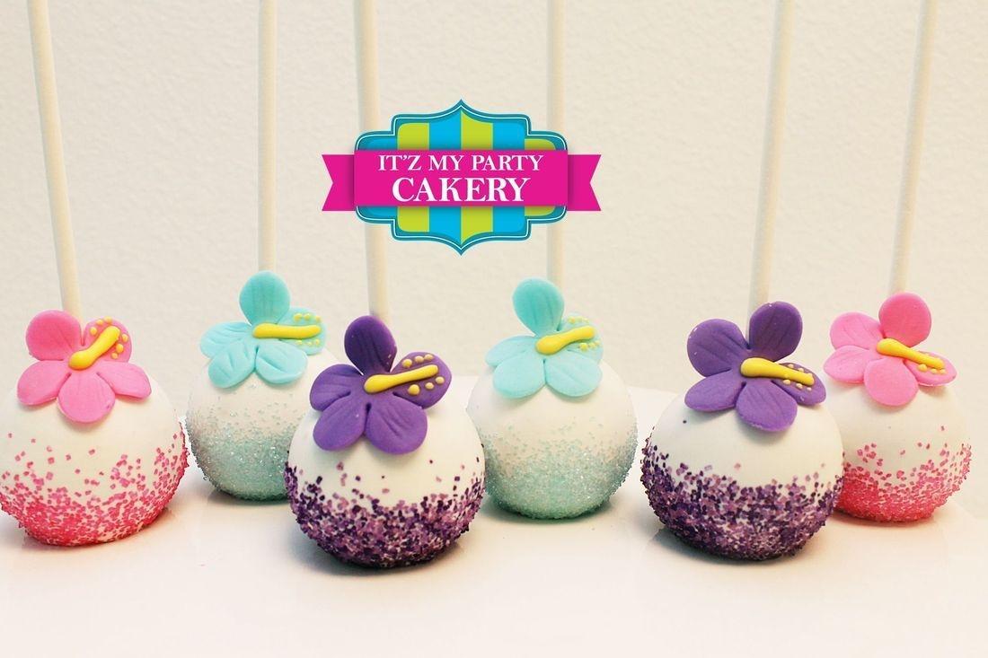 Tropical Flower Cake pops Custom cakepopsStars New Year Cake pops