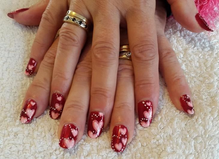 Nails by student after my Manicure Course