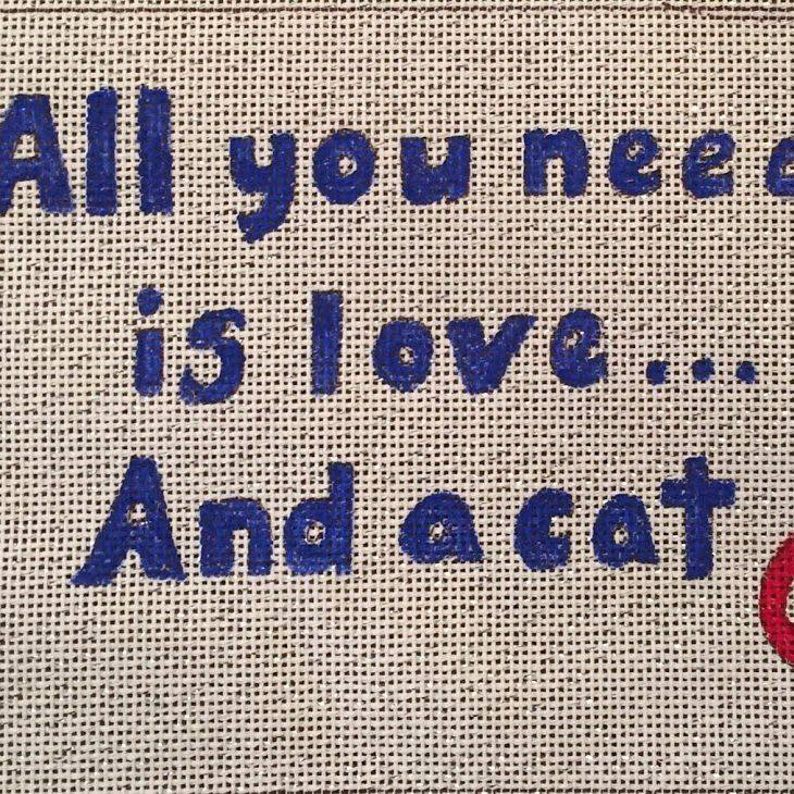 love, cat, paw, sampler