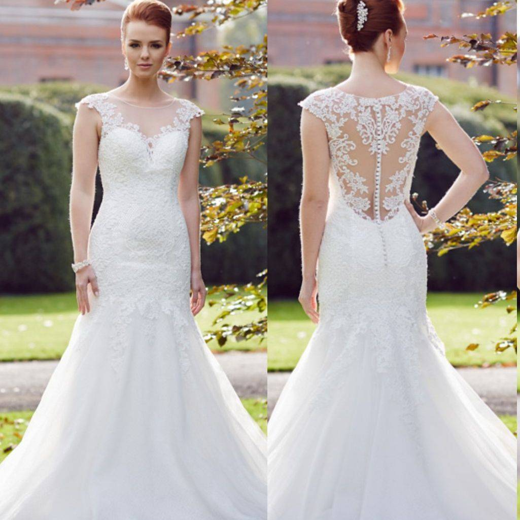 Cairo by Jessica Grace, fishtail, lace, illusion back