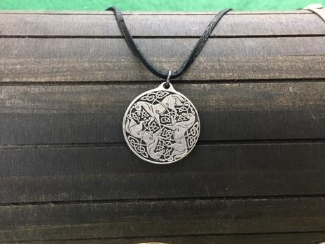 Celtic Epona Pendant, Irish, Iron Age , Shield Ravens