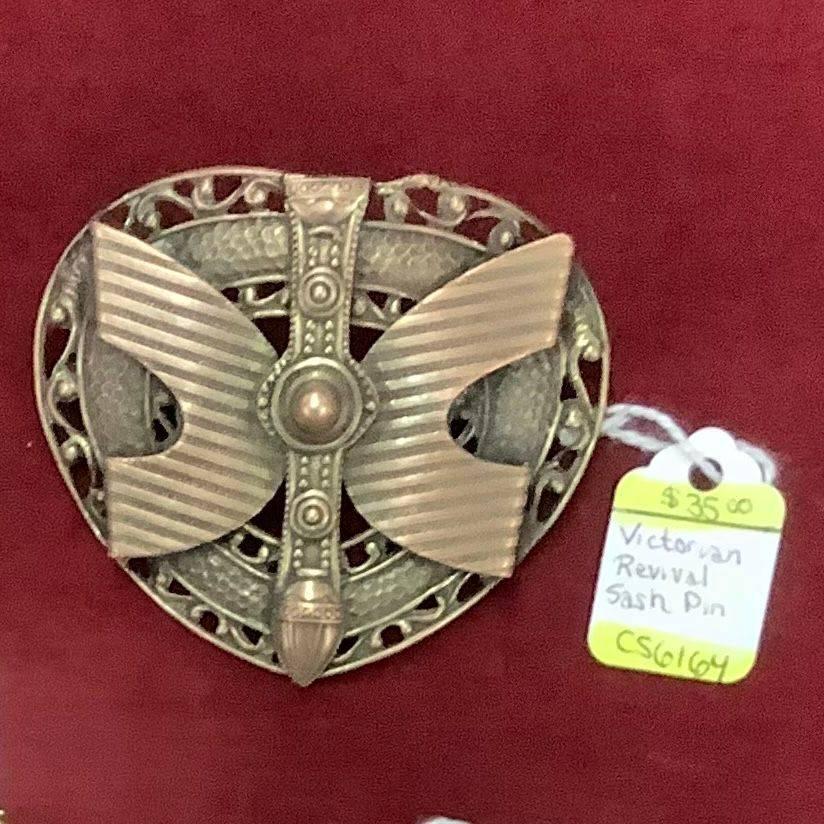 Victorian Revival Sash Pin  $35.00