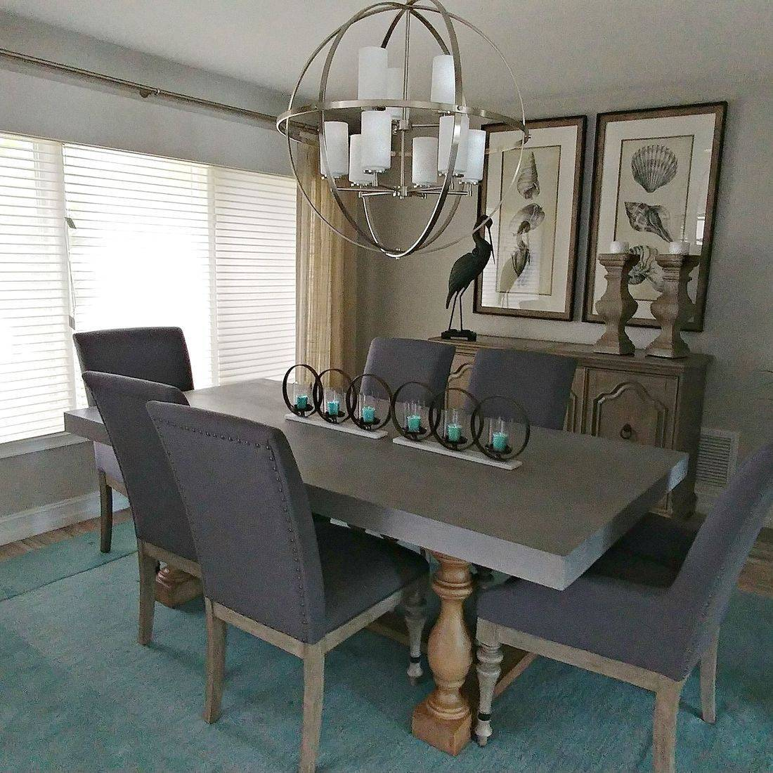 Cement and Wood Dining room table
