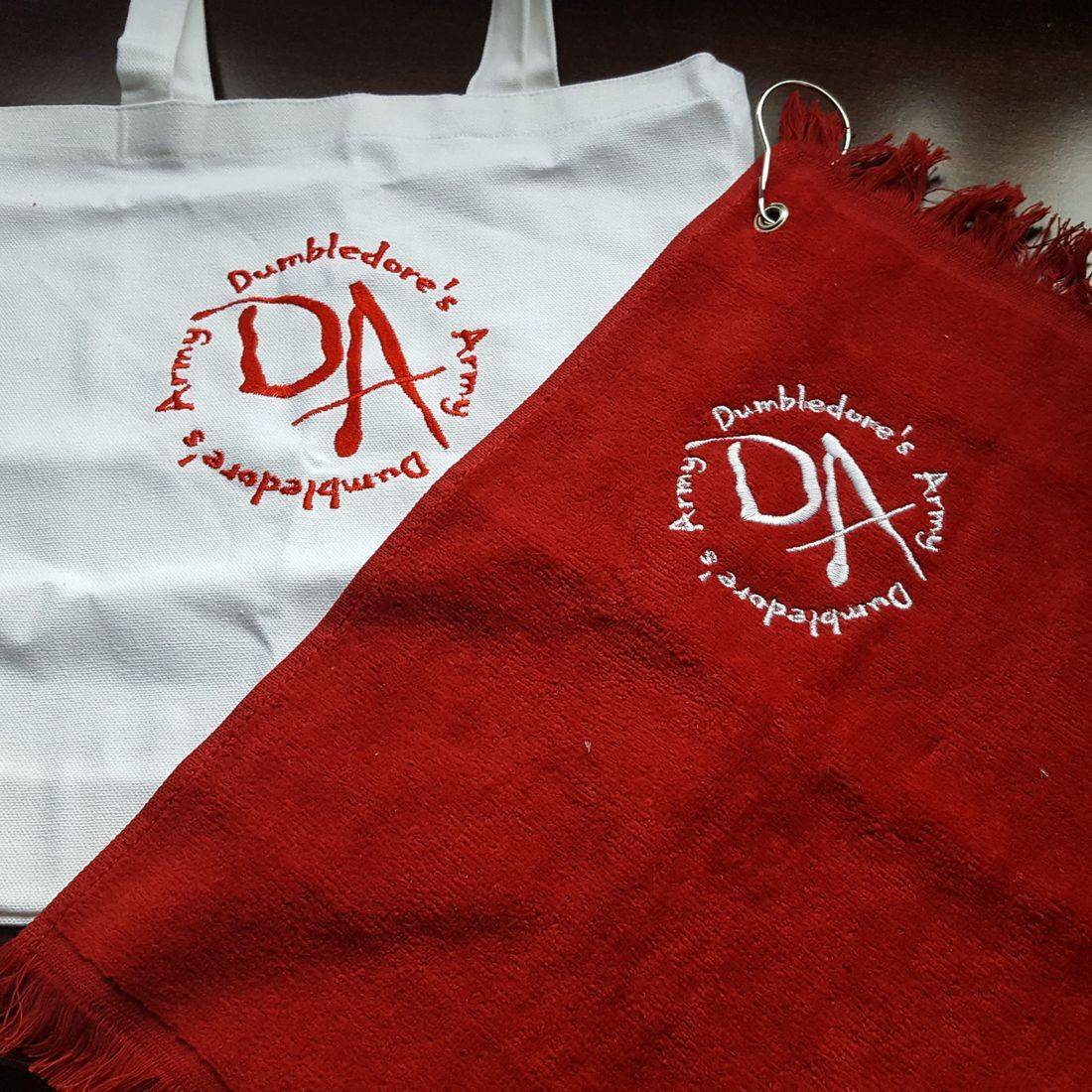 Embroidered Tote and Towel Set