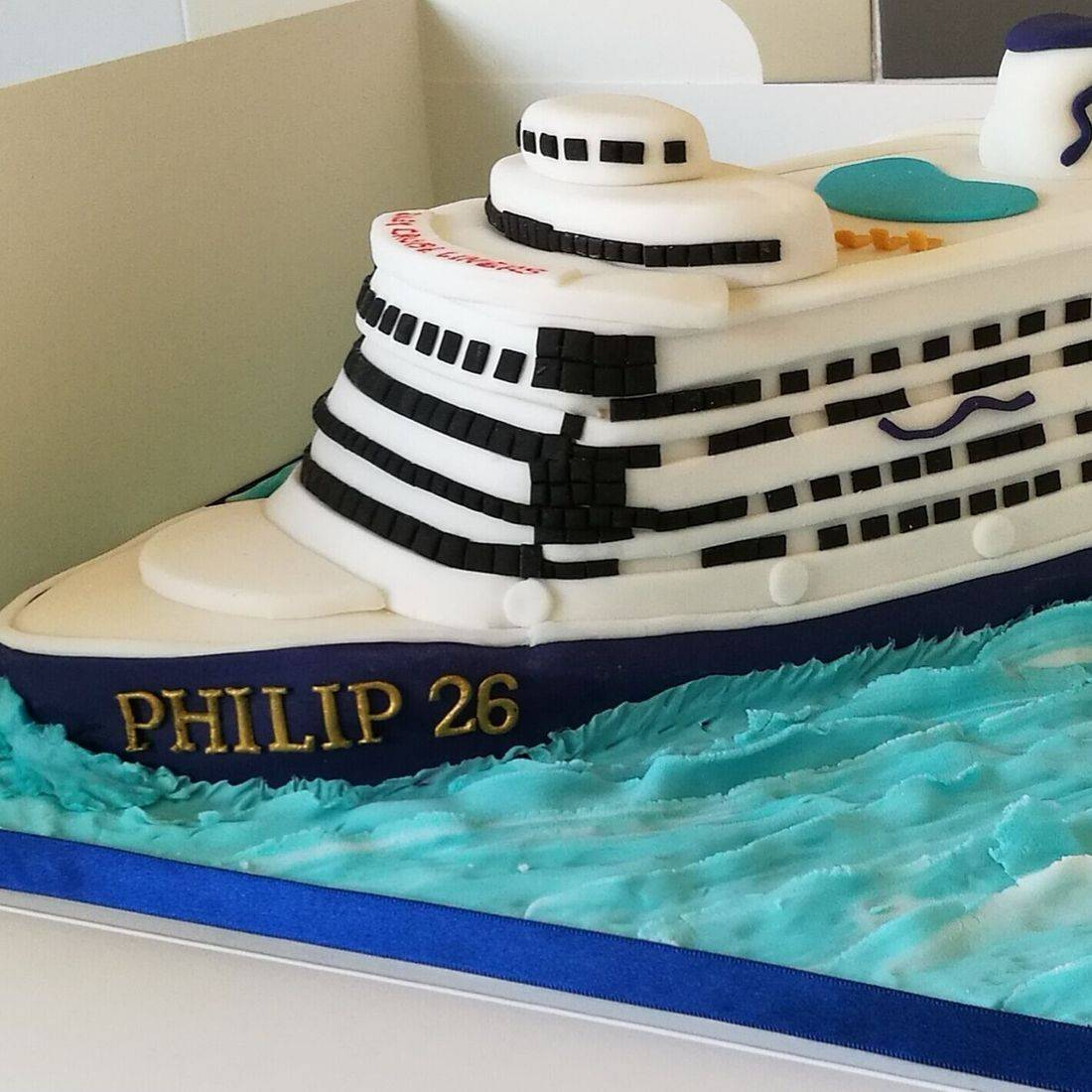 Cruise Ship Novelty Cake