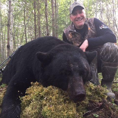 Big Black Bear Hunt Manitoba Canada