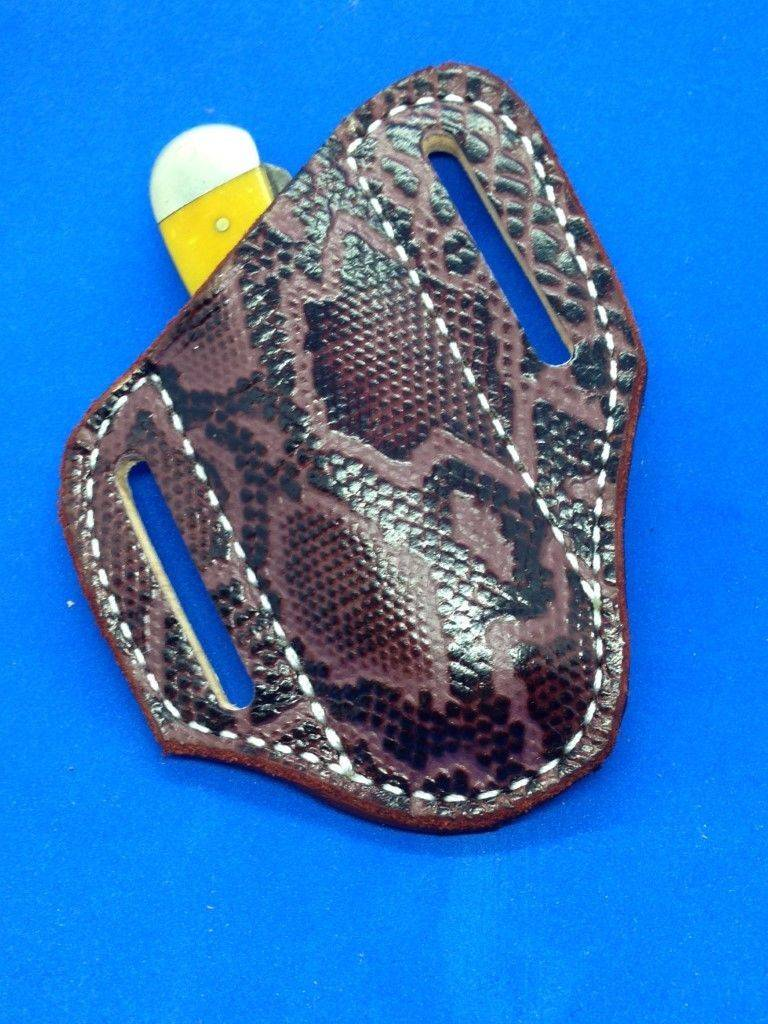 Python trapper sheath , case knife sheath , pancake sheath ,