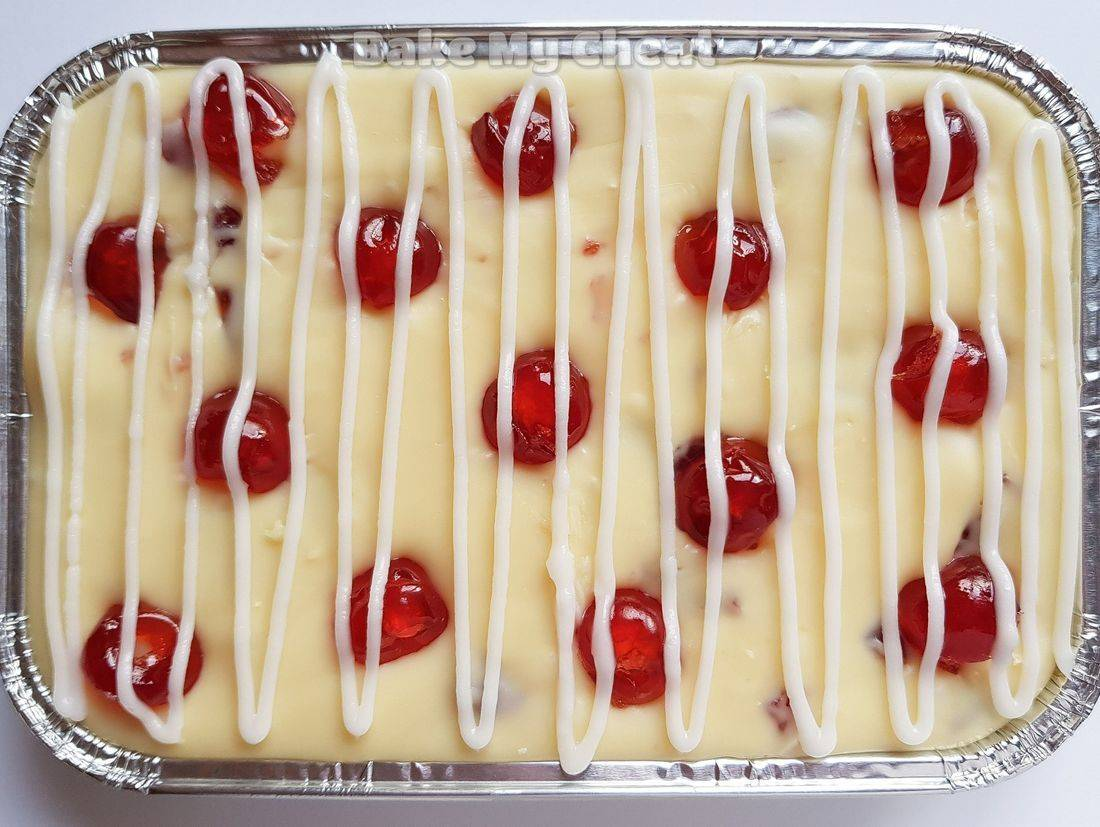 cherry bakwell fudge, local caterer, dairy free brownies