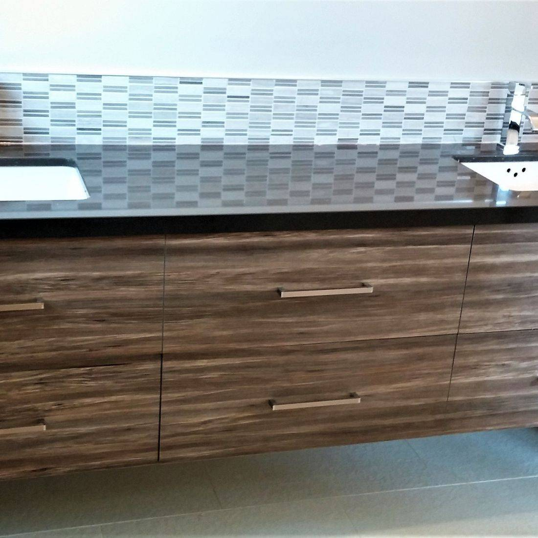 Sibra Kitchens Markham Toronto cabinets bathroom cambria quartz vanity