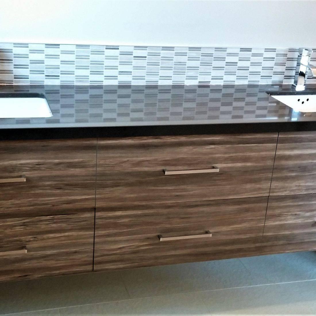 Sibra Kitchens Markham Toronto cabinets bathroom cambria quartz vanity