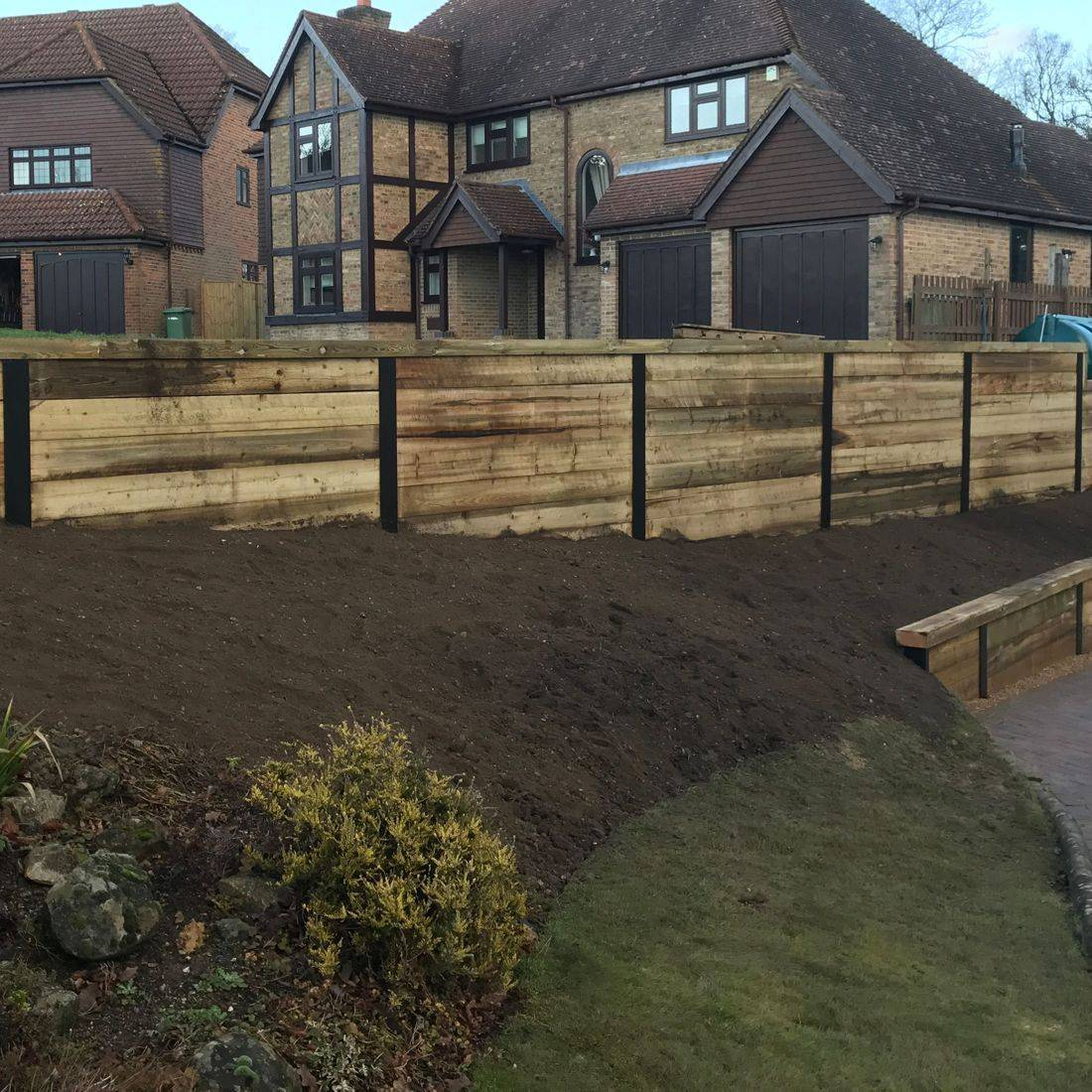 retaining walls kent