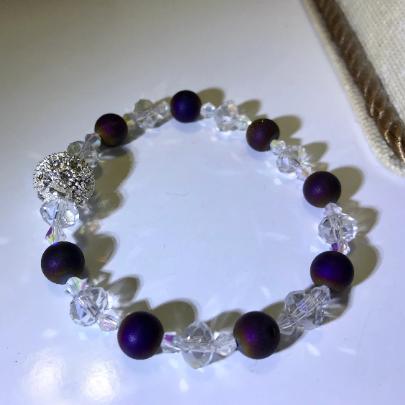 wine druzy bracelet, women's burgundy bracelet, women's swarovski bracelet, women's crystal bracelet